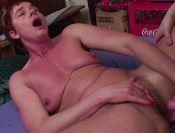 Mature Lady Anal Throbbed By Young Cock