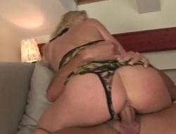 Blonde Jasmin gets her throat swayed by guys stiff love torpedo