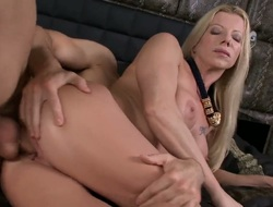 Golden-haired Lara De Santis coupled with her concupiscent fuck buddy are in the mood for fucking