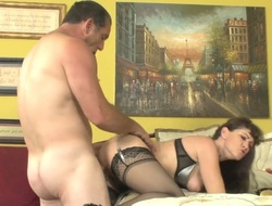 Alexandra Silk lets Paul Carrigan mite his penis in will not hear of irritant