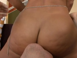 Handsome honey enjoys getting her taut gazoo gap stretched