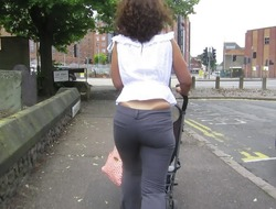 tight trousers and stripe tan lines