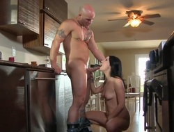 Hot chick is skilled enough to make guy cum again and again