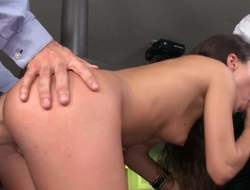 Pretty subfusc Anita Bellini with epigrammatic billibongs and firm nuisance gets attacked by two stiff dicks in 3some action. She sucks two abiding dicks at once at the intensive penis riding. She loves possessions double dicked