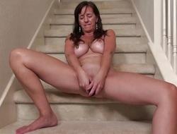 Oversexed granny masturbating