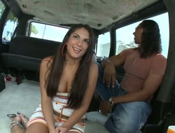 Brunette chicana Carmen with nifty ass does tingle with a guy this babe wants to be hung up on