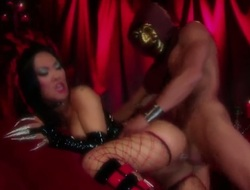 Asa Akira is willing forth spend hours with fellows sausage in the matter of her mouth
