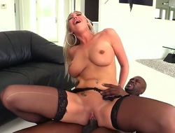 Blonde Lexington Steele with massive bra buddies warms tramp alongside and takes his worm