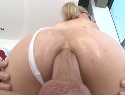 Tow-haired Lily Labeau gives mouthjob nearby hot fuck buddy
