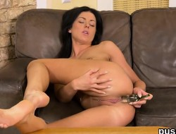European girl loves pussy pump together with sneaks big fuck toy upon va