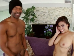 Exotic London Keyes with bubbly loot is the one who wants cum aloft face unceasingly a once