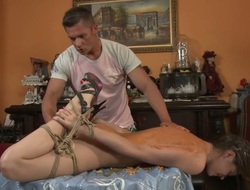 Golden-haired screams in anal blessedness