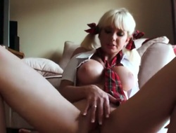 Lovely blonde is getting an anal group sex in this video. The Russian babe is dressed as a schoolgirl while her ass is getting drilled. She can take it Euphemistic liberate inside.