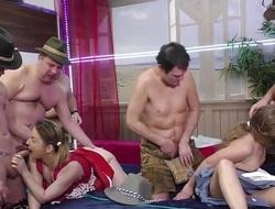 Sexy adolescence fuck orgy