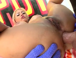 Luna Personage with huge breasts making love