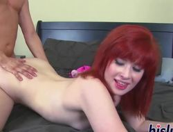 Amazing stunner plays with her partners tool
