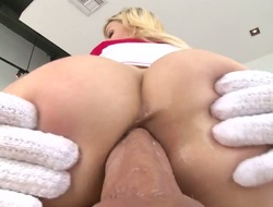Bibi Noel with gigantic tits is horny as be hung up on with mans wang unfathomable inside her oozing wet twat