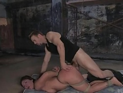 sub girl receives hard anal and S&m