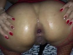 Perfect large booty gape